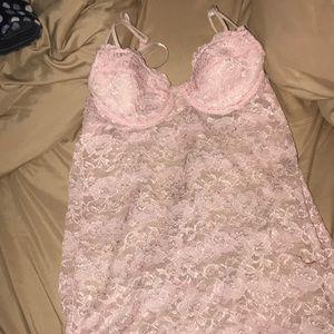 Pink lingerie